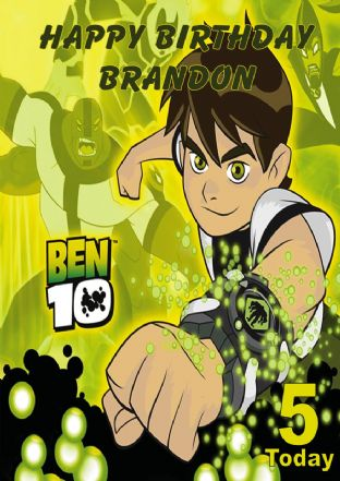 Personalised Ben 10 Birthday Card